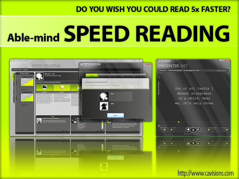 Click to view 4mind SPEED READING 1.0.120423 screenshot